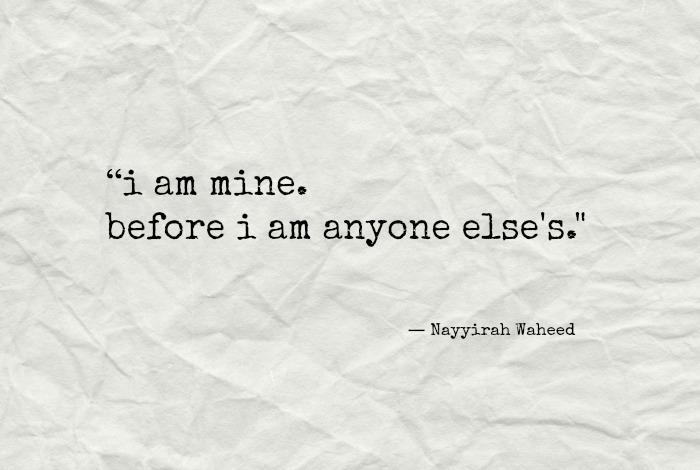 Image result for i am mine before i am anyone else's