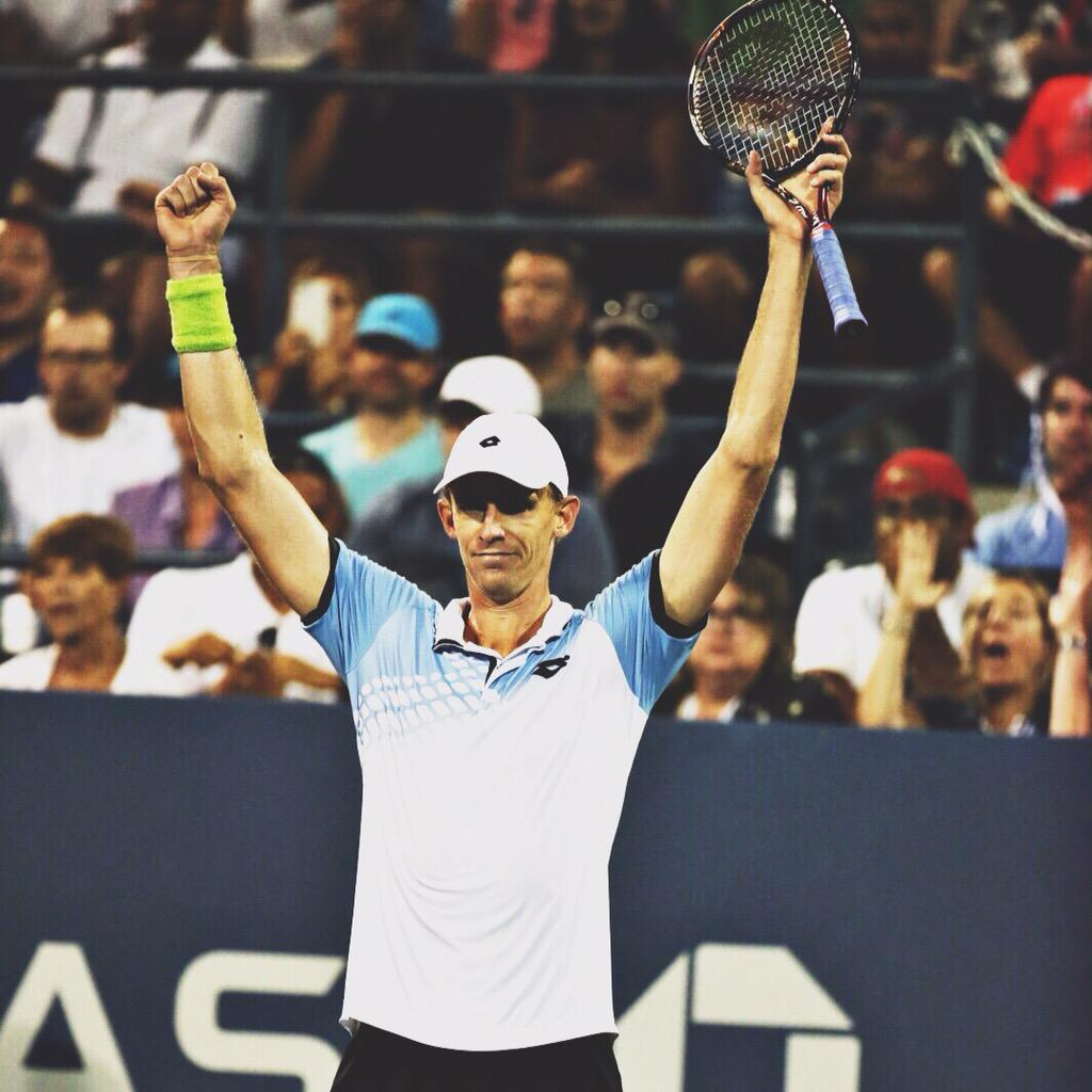 Incredible experience tonight at @Usopen, a match I will never forget. Thanks to all the amazing fans! On to quarters http://t.co/XcdH02w9qg