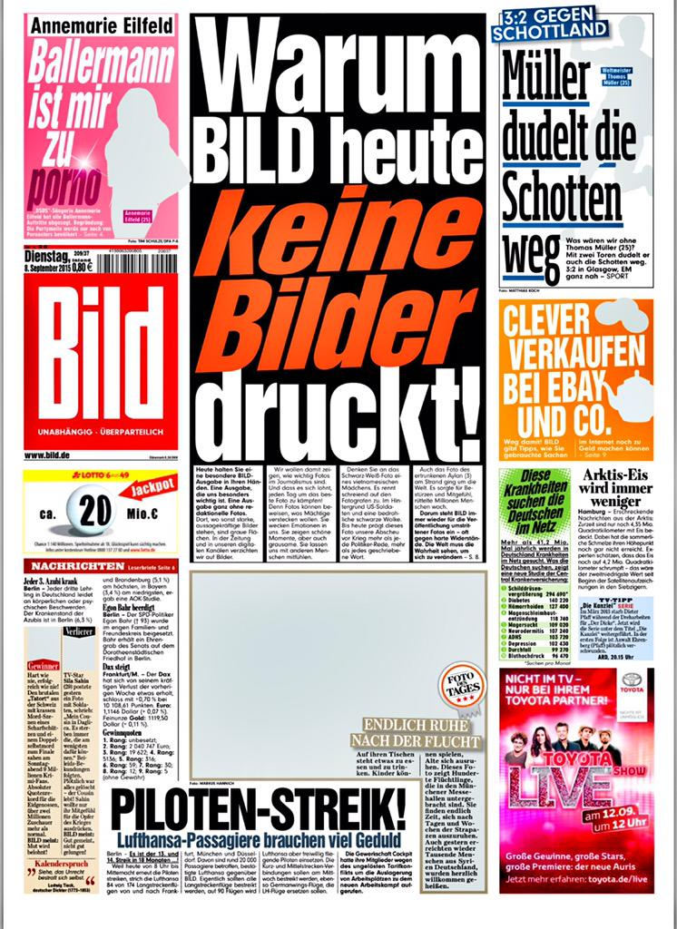 german paper bild removes all photos in protest over alan kurdi complaints media the guardian. Black Bedroom Furniture Sets. Home Design Ideas