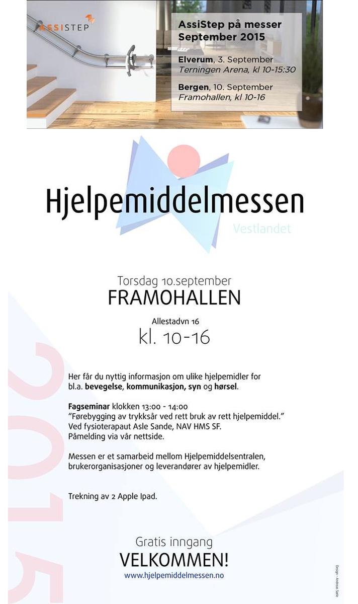 @AssiStep_no till #Bergen #funksjonshemmede #eldre #hjelpemiddel #hjelpemidler Mer om messene:http://t.co/yMcmVOn9zI http://t.co/lupQXh78qr