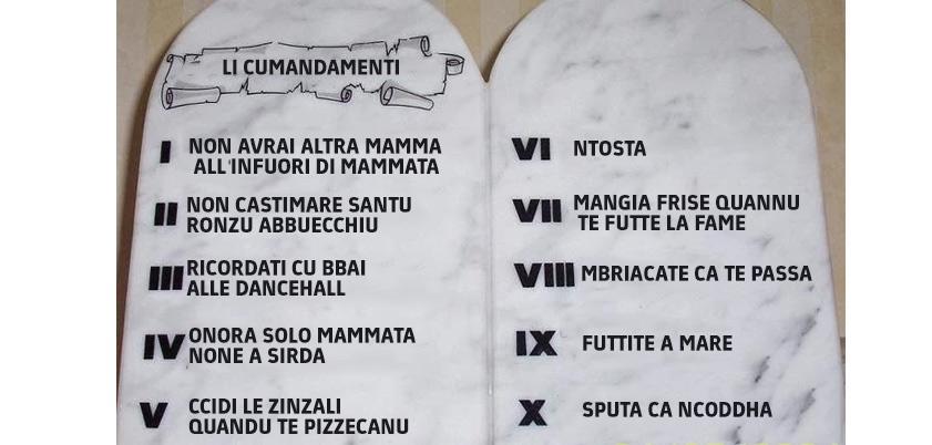 Il salento xix on twitter ritrovati i 10 comandamenti salentini http - Tavole dei dieci comandamenti ...