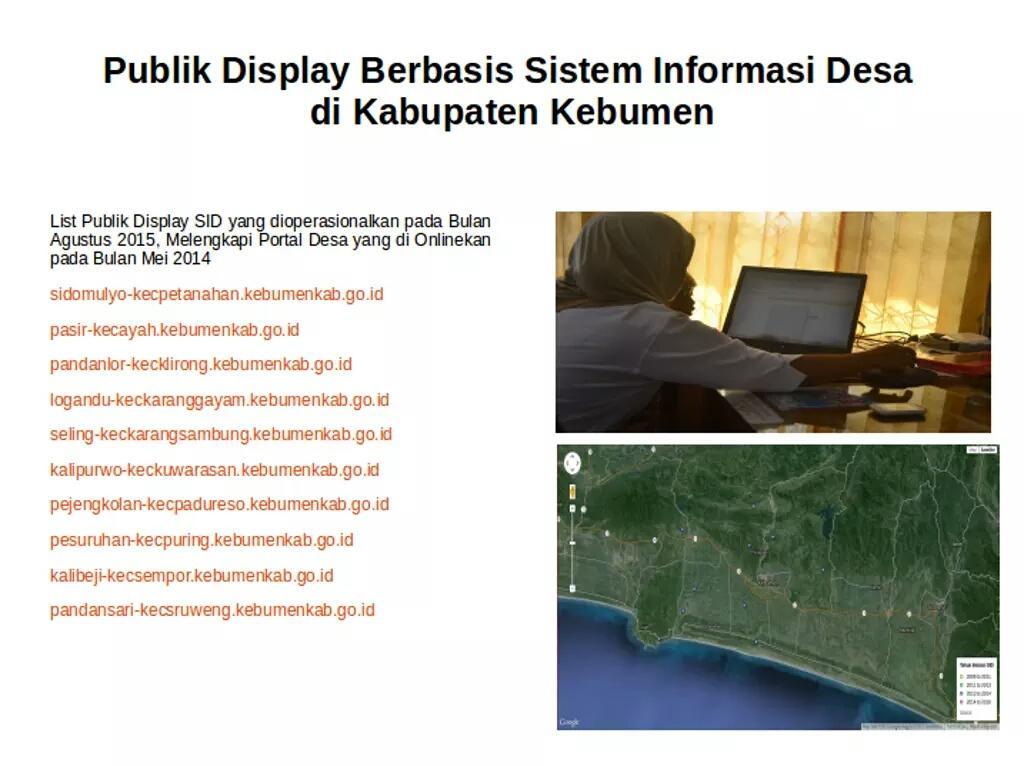 Publik Display Berbasis Sistem Informasi Desa