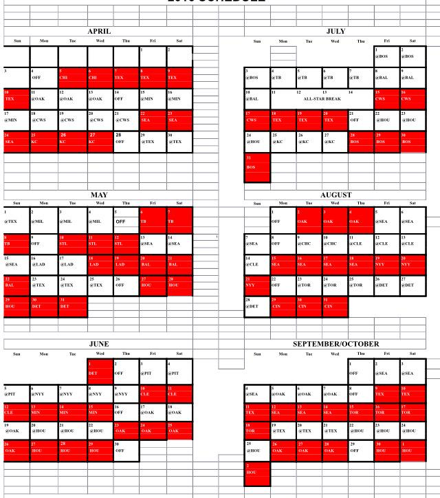 The Angels schedule , which was released on Tuesday, concludes with a ...