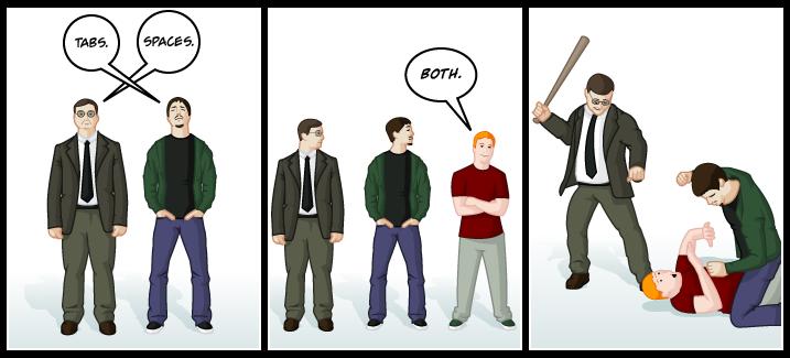 Tabs vs. spaces... http://t.co/oAItoa81V7