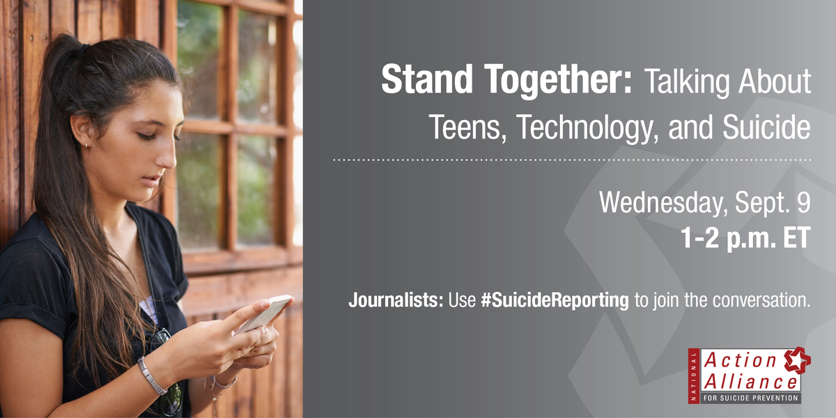 Journalists, don't miss these panels on #SuicideReporting. Wed 9/9 on teens & tech: http://t.co/7wUEVBTv4w http://t.co/Zp291qLucV