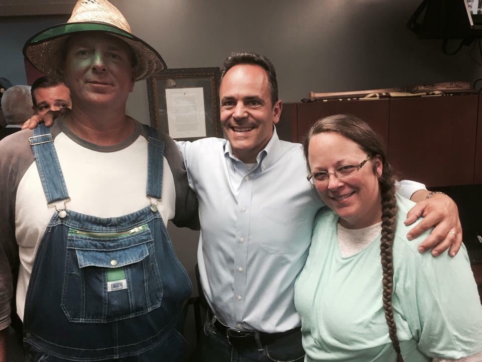 @tedcruz PHOTOBOMB RT @VincentHarris: Kentucky's next Governor with Kim Davis. @MattBevin (and Ted's eyes) http://t.co/nPbagLA06q