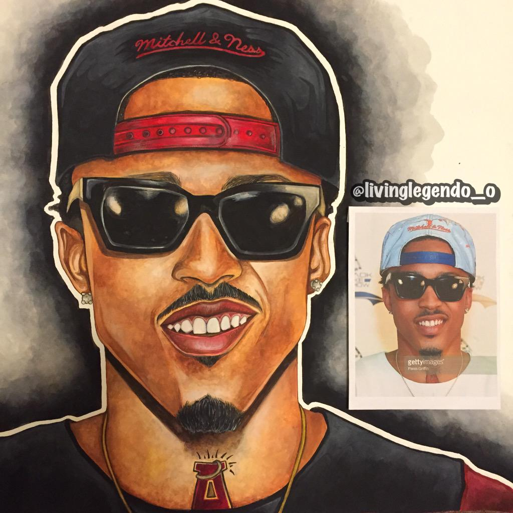 Just finished my painting of @AugustAlsina http://t.co/cUg5LQ7nnz