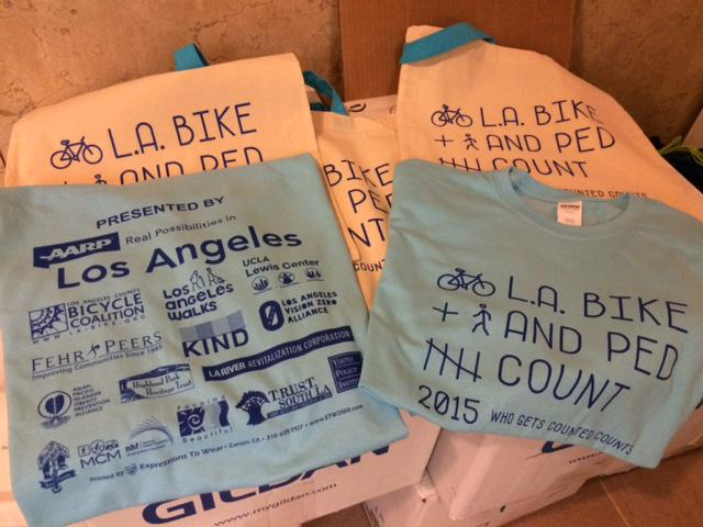 Who gets counted counts! Who volunteers for the #LABikePedCount on 9/16 & 9/19 gets a shirt! http://t.co/GILdv4Swf5 http://t.co/a1WDKV6mke