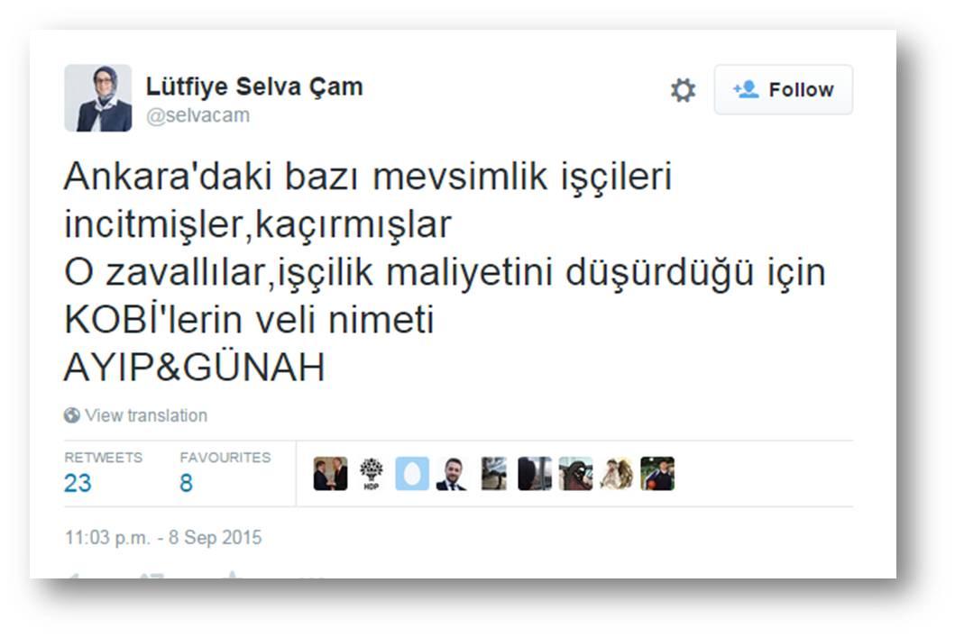 AK Parti'ye dair her şeyi bu tweet'in içinde bulabilirsiniz (AKP Ankara millet vekili) http://t.co/uE0O2Axote