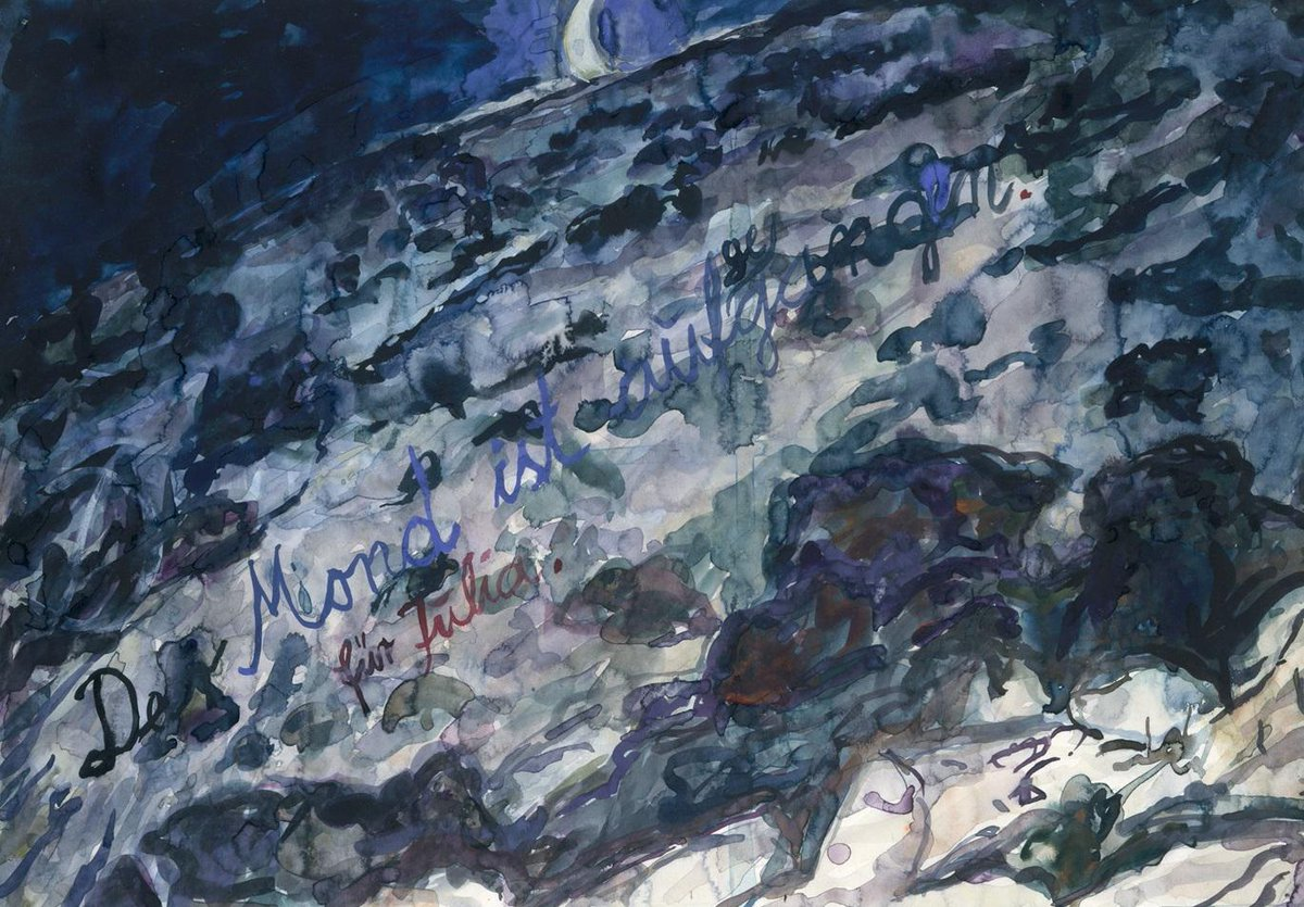 "Admire ""Der Mond ist aufgegangen (The Moon Has Risen)"" by German artist Anselm Kiefer. http://t.co/JovBGLasZU"