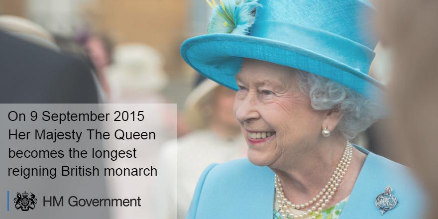 Today we mark the historic day that Her Majesty The Queen becomes the longest serving British monarch #LongestReign http://t.co/OMLSayzAwB