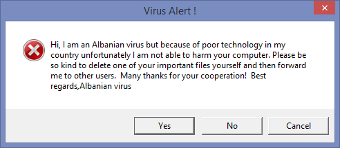 Wish all of my viruses were this polite http://t.co/yIOTgjStYL