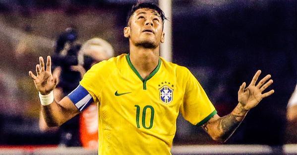 Neymar Scores Twice For Brazil