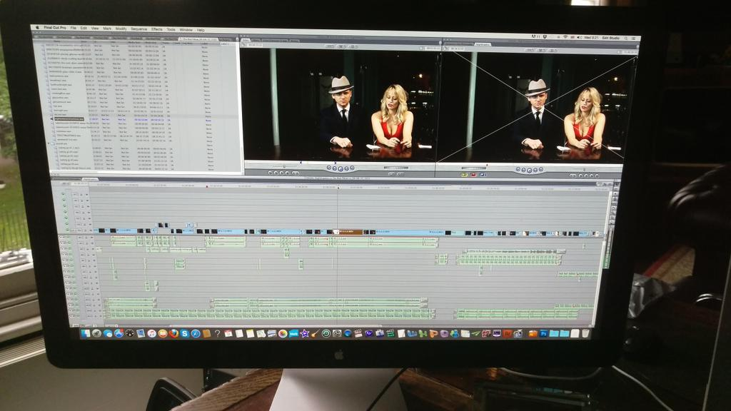 RT @max_rogers: Editing #TheRedPillow starring @TheDannyKelly and @KimberlyKWyatt http://t.co/HAdEyY56U4