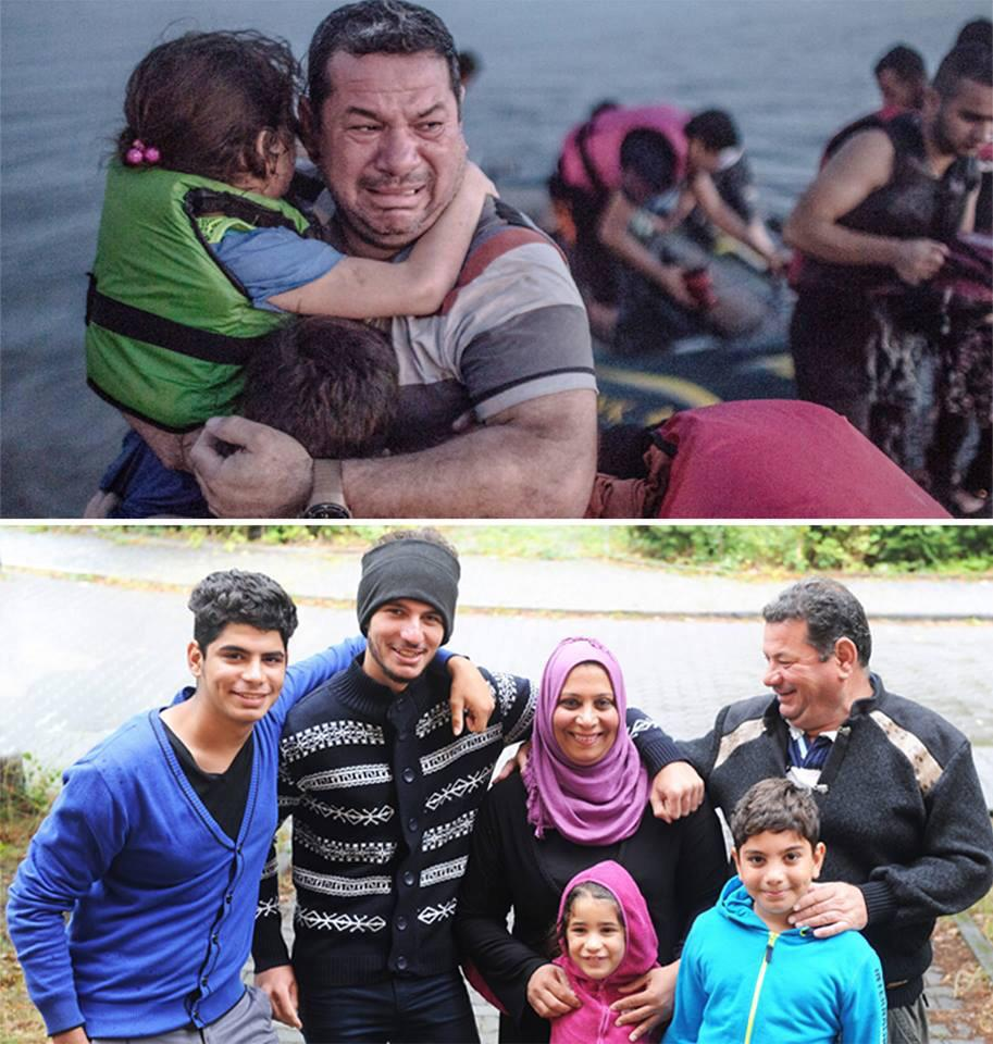 The difference that safety can make for refugees. #yes #wewelcomerefugees. First photo by @DanielEtterFoto http://t.co/ON1eQ6N0Mt