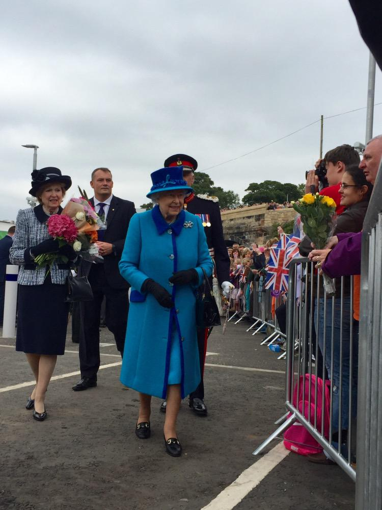 The Queen has arrived at Newtongrange http://t.co/x1NanBNaEf