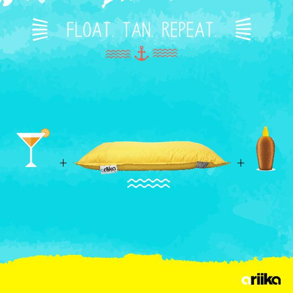 You're lying on a bean- bag, floating in a pool, your hair totally dry, working up the perfect summer glow. http://t.co/9RSavzjyJ6