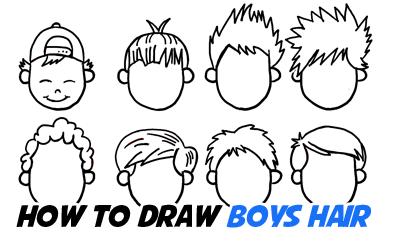 How To Draw Cartoon Hair