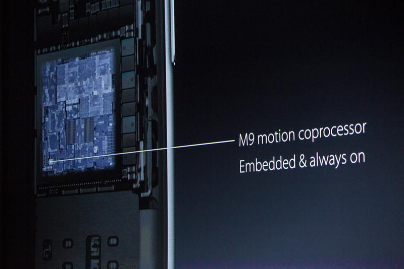 "M9 motion is now always on. Also, ""Hey Siri"" is always-on! (live blog) http://t.co/UGcJ2UPY2q #AppleEvent http://t.co/2atyAPhaWg"