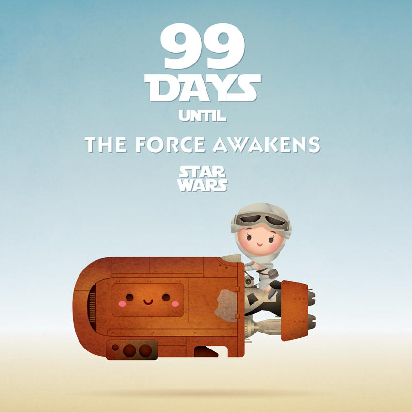 Only 99 more days… #StarWars #TheForceAwakens http://t.co/RtXOBcyUKn