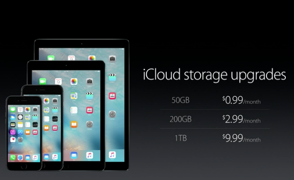 iCloud storage upgrades. #AppleEvent http://t.co/rlnNlc1o5M