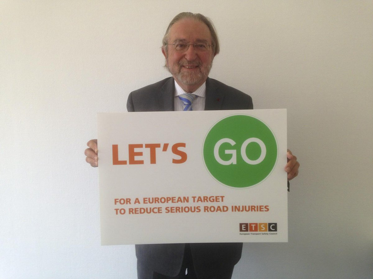 Belgian Minister of State (and ETSC president) Herman de Croo says #letsgo for a European serious road injury target http://t.co/4BD4Cne0QW