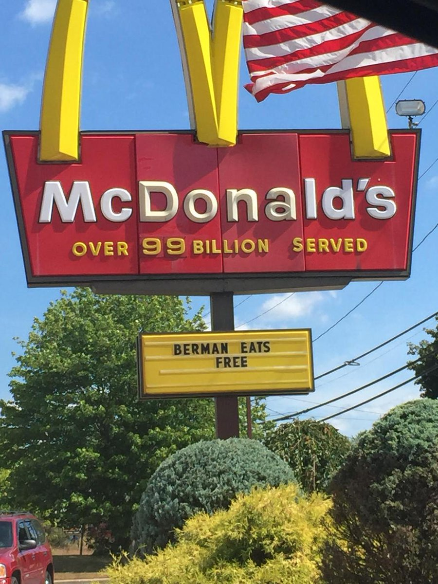Berman Eats Free at the Golden Arches