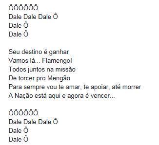 Nova música da torcida do Flamengo, inspirada na do Raja, que será cantada amanhã. Vídeo: https://t.co/rRjXGtgMYx … http://t.co/mPoElhF6d6