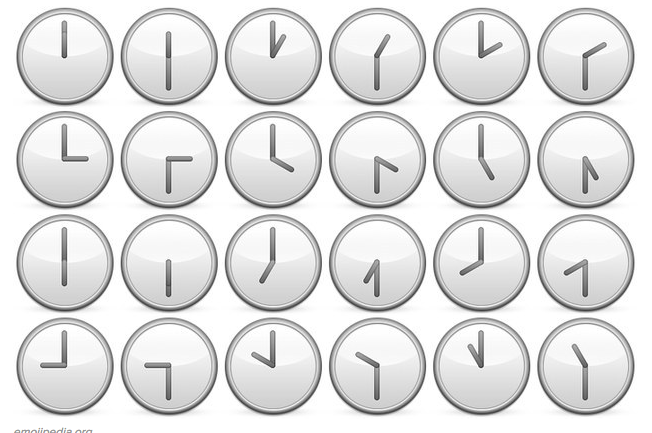 Image result for clock emojis
