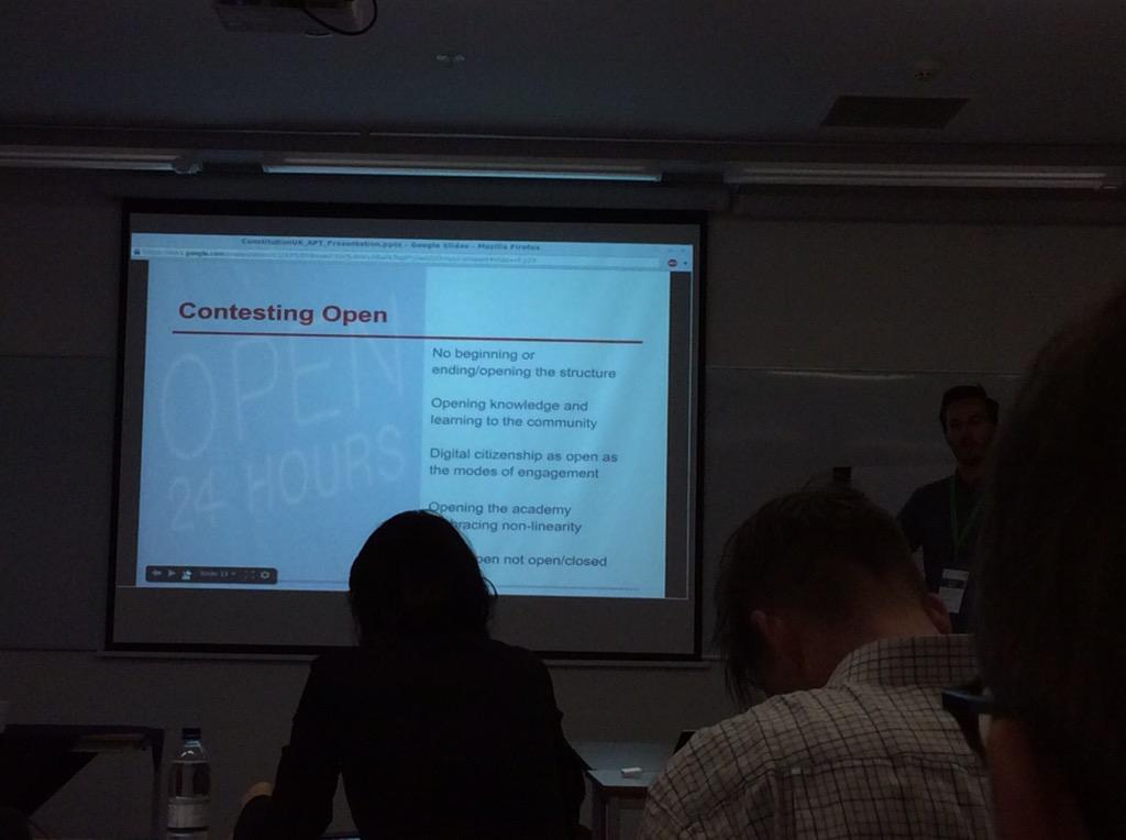 LSEs non-mooc contested open - redefines what it means #altc working backwards from existing concepts http://t.co/Vei5Sa3orT
