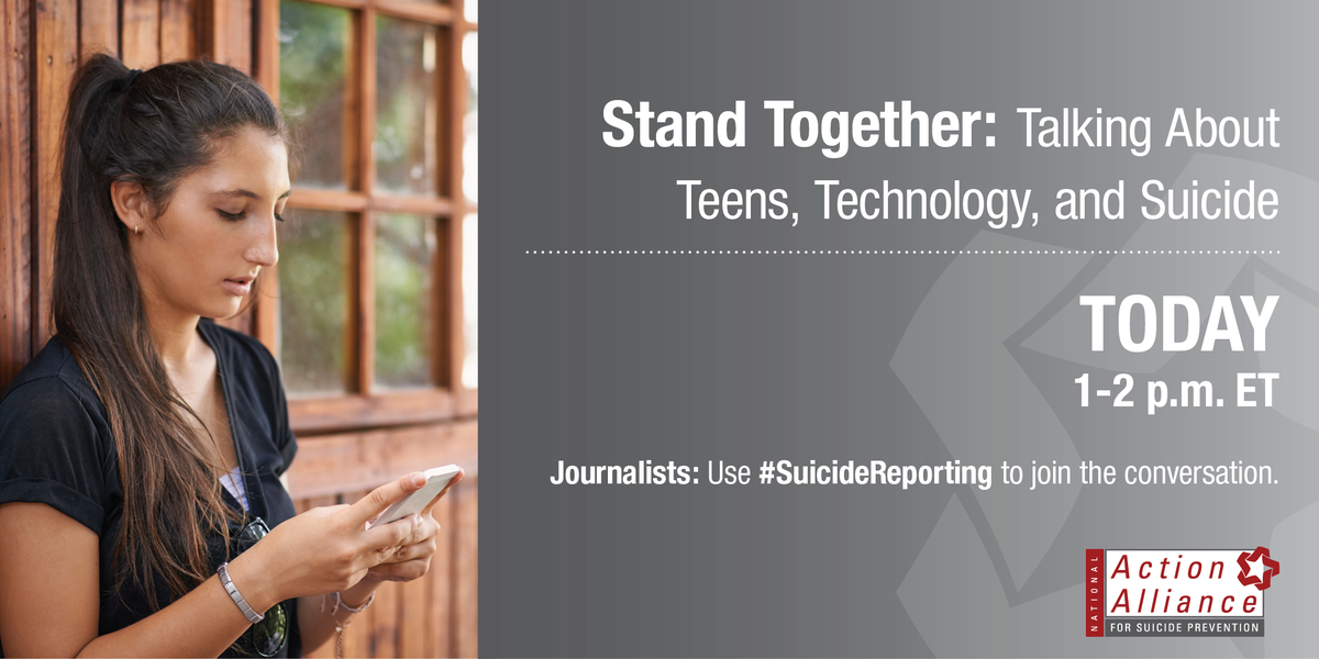 """Teens, Technology & Suicide"" Google Hangout happening NOW. Watch it live: https://t.co/O6MFxwj6Rl #SuicideReporting http://t.co/CVfIJxa31D"