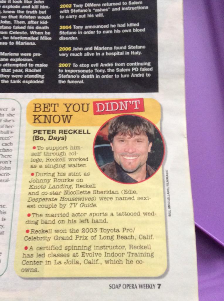 Look what I just found! An old issue of SOW with this little feature with @peterreckell  #BoIsBack #Days50 http://t.co/a3BvcmzYW4