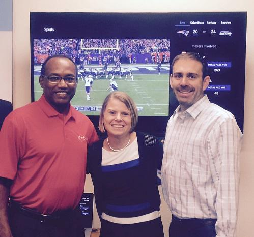 .@Seahawks great Curt Warner visits Seattle @ComcstSpotlight to demo @XFINITYSports #X1 App w/ @debfrey @prestons http://t.co/YlP5wFLQAZ