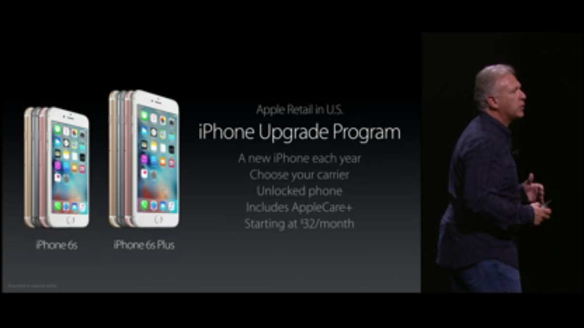 New iPhone Upgrade Program for a new iPhone every year, choose your carrier, unlocked phones #AppleEvent http://t.co/APHEeBV49Z