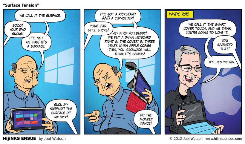 So this comic was published back in 2012 #AppleEvent http://t.co/zw78RWyxCE