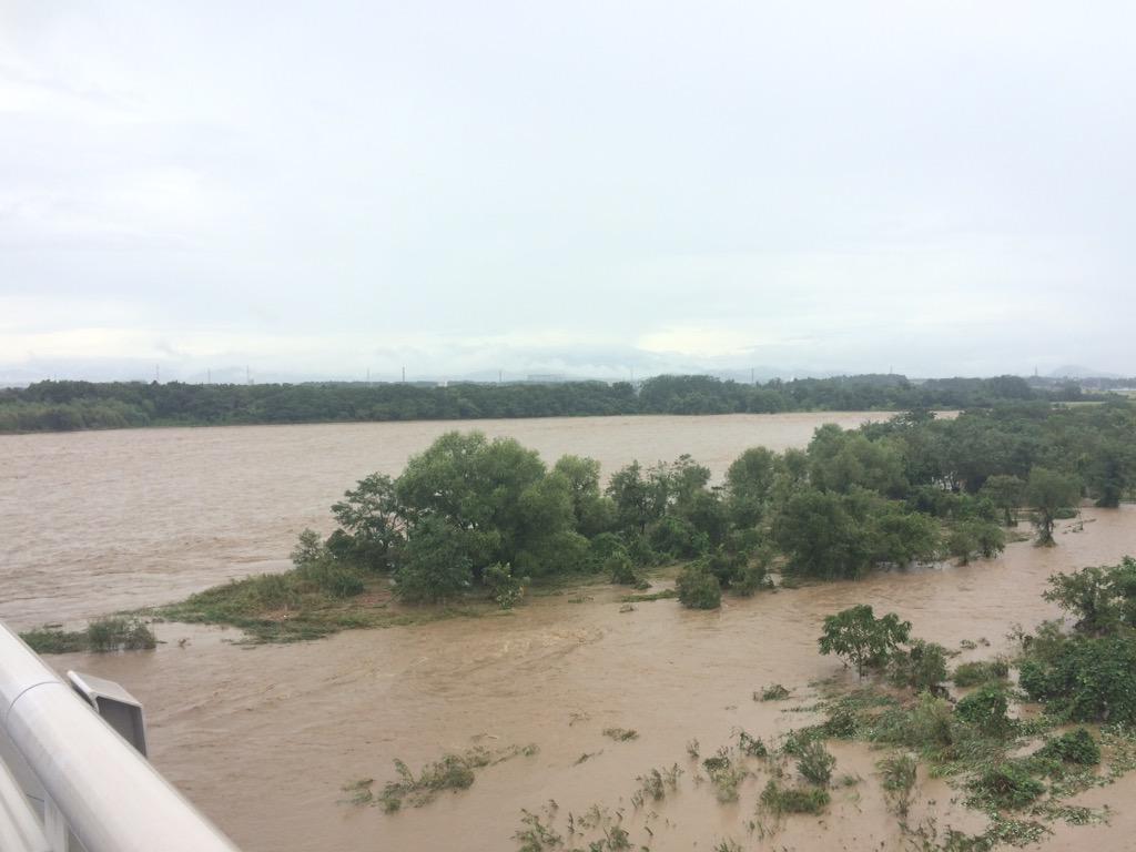 鬼怒川がアマゾンみたいになっとる http://t.co/VIypcs0eqM