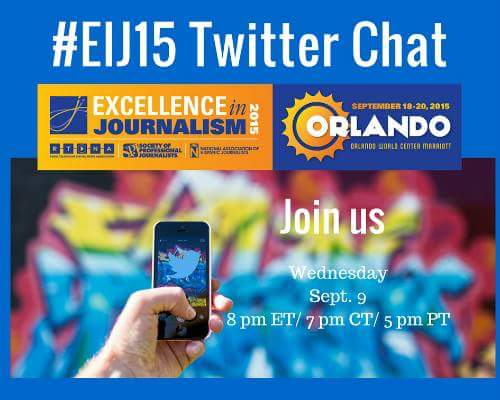 Thumbnail for #EIJ15 Twitter Chat- Sept. 9