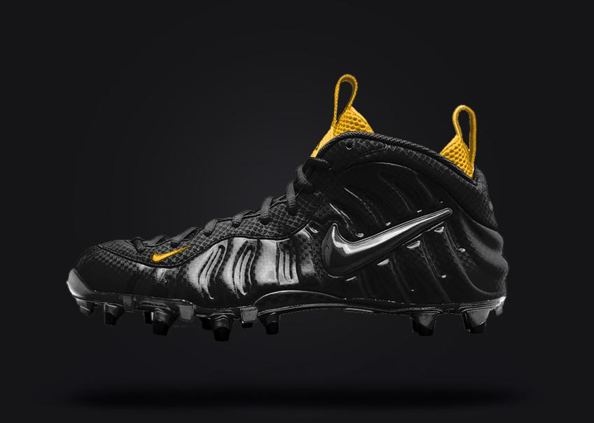 online store 1d66d 752a2 ... sneaker shouts™ on twitter concept design of the nike foamposite turned  into a football cleat ...