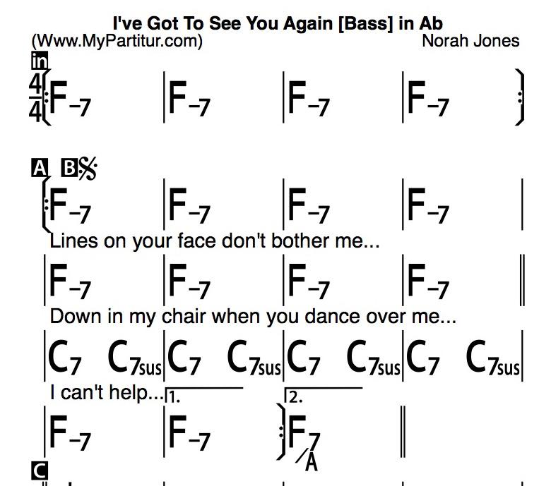 Mypartitur On Twitter Ive Got To See You Again Chords In Ab