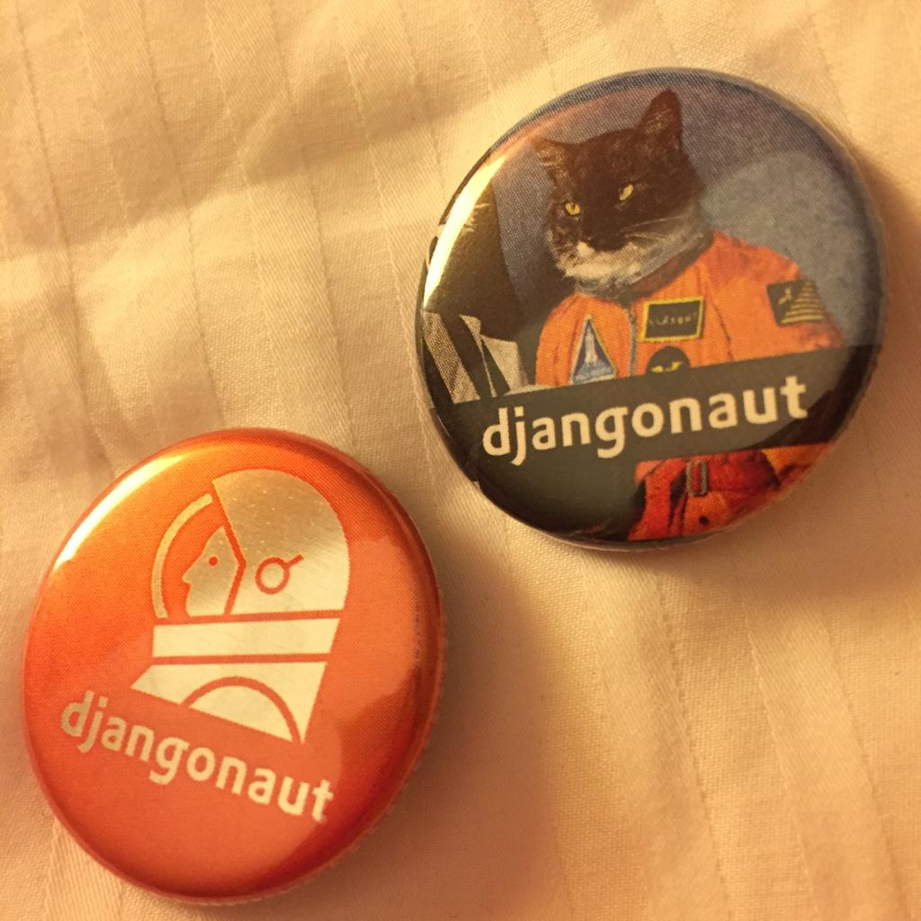 well these are the best, @dealertrack swag for #djangocon thanks @miki725miki for finding one last space cat for me! http://t.co/C7mAEMh5iF