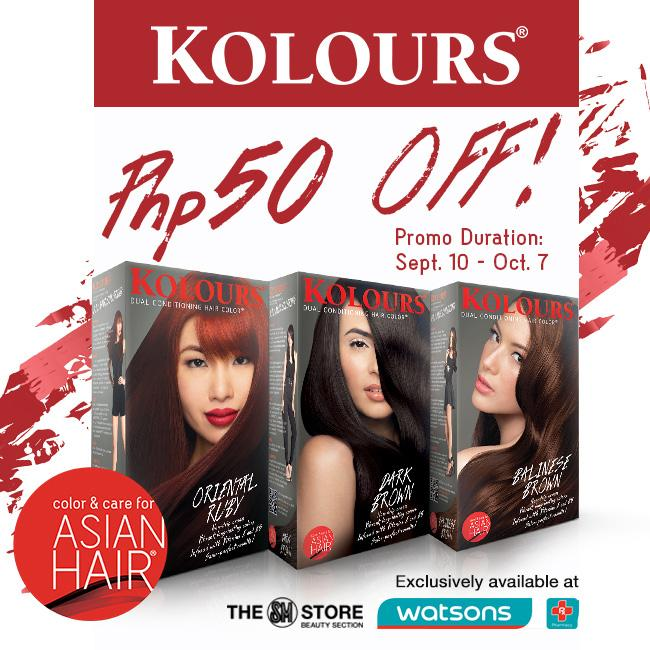 Watsons Philippines On Twitter Match Your New Hair Do W A New Hair Color Get P50 Off Kolours Hair Color At Any Watsons Sm Store Beauty Section