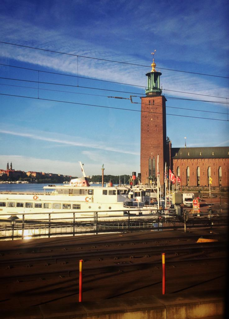 On train leaving gorgeous #Stockholm morning to start my culinary #westsweden journey. Follow along #CulinarySweden http://t.co/5sCvWIcCQq
