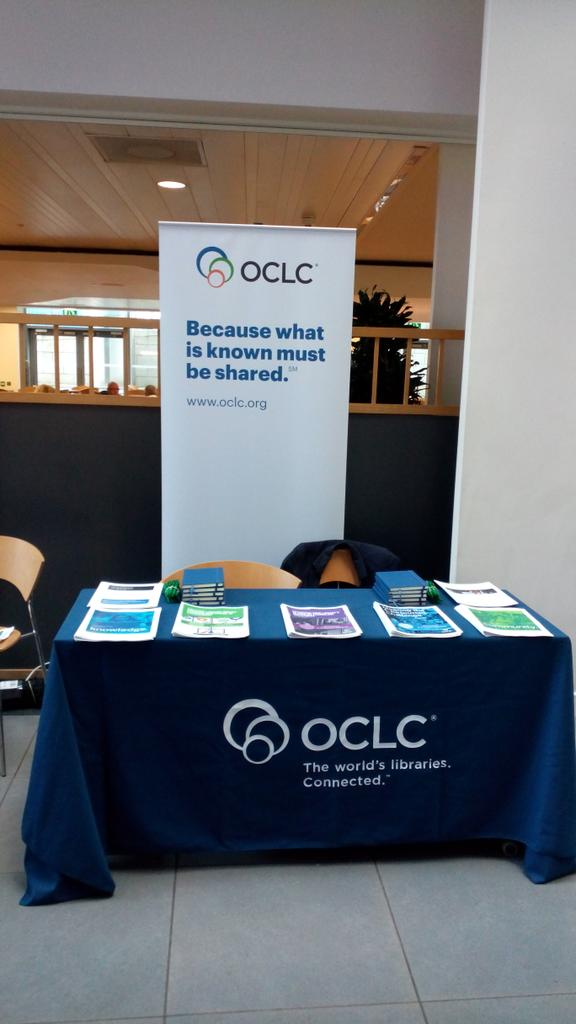 Our main sponsor @OCLC  today at #ncollab15 meet the sponsors in the foyer http://t.co/tujBO9BrWF