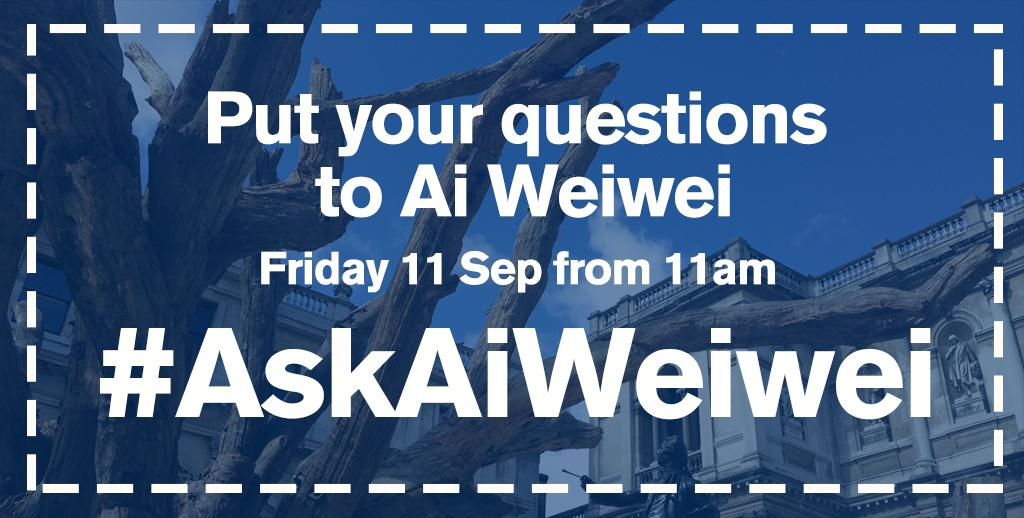 Tomorrow at 11am: #AiWeiwei will be joining us live for a Twitter Q&A! Post questions now with #AskAiWeiwei http://t.co/WYiHJbjteT