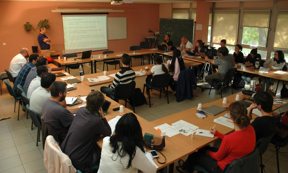 #Agro2015: A sneak peek at the course on Analysis and Design of Sustainable Agricultural Systems @Supagro @Agropolis http://t.co/zbINcqrFd2