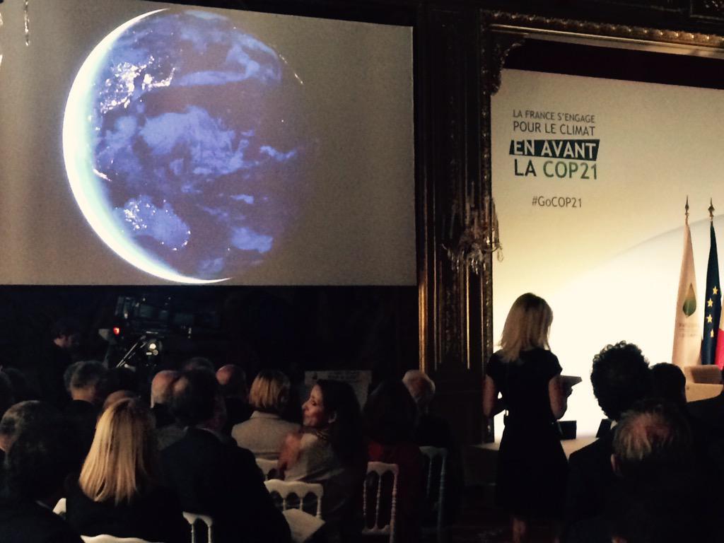 """[#GoCOP21] Présentation de la séquence """"océans"""" @Elysee #COP21 http://t.co/Vi92zXMsS3"""