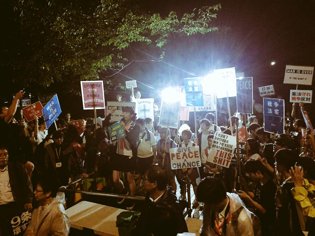 SEALDsは粛々とデモ実施