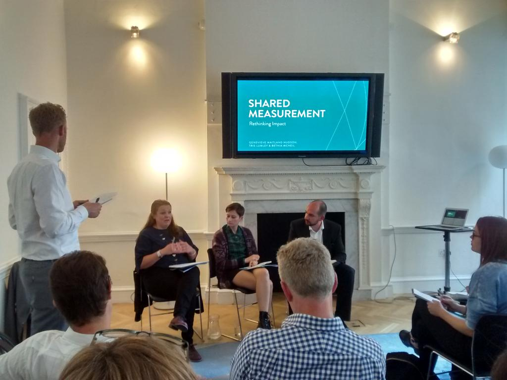 Interesting discussion on why & how to (& how not to) measure impact @oscaagency @NPCthinks @theRSAorg #RImpact http://t.co/Bv3cljmHm3