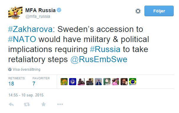 ryssland hotar sverige