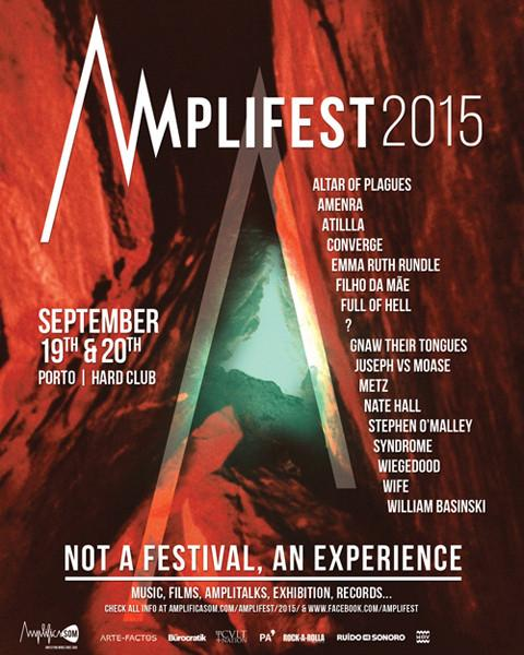 .@WilliamBasinski will perform at Amplifest w/ @IdeologicOrgan, @Convergecult and more in Porto!! http://t.co/TF3ngKafy0
